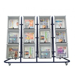 12 Tray Outdoor Newspaper Display Stand